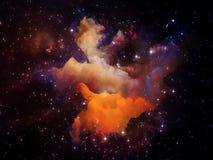 Målad nebulosa Fotografering för Bildbyråer