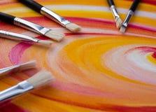 Målad palett Royaltyfri Fotografi