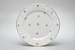 målad platta för matställe tom hand royaltyfri foto