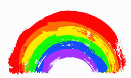 målad regnbåge Arkivbild