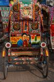 Målad rickshaw Arkivfoton