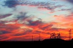 målad sky Royaltyfria Bilder