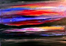 målad sky Arkivfoto