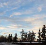 målad sky Royaltyfri Fotografi