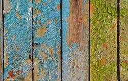 Målad sprucken träbakgrund eller textur royaltyfri foto