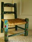 målad stol royaltyfri fotografi