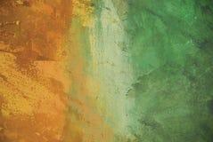 målad stuckaturvägg Arkivbilder