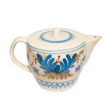 målad teapot Royaltyfri Bild