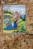 målad tegelplatta Fotografering för Bildbyråer