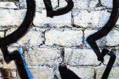 Målad tegelstenvägg Royaltyfri Fotografi