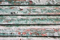 Målad textur av gamla träplankor av grön färg royaltyfri bild