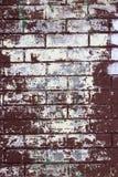 Målad textur för tegelstenvägg Royaltyfri Foto