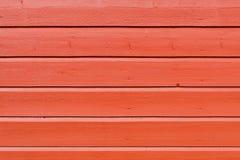Målad träväggbakgrund för röd planka Fotografering för Bildbyråer