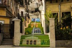 Målad trappa Fotografering för Bildbyråer