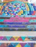 MÃ¥lad trappa, Achrafieh, Beirut, Libanon arkivfoton