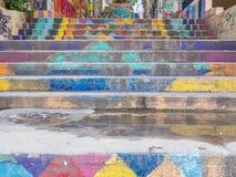 MÃ¥lad trappa, Achrafieh, Beirut, Libanon fotografering för bildbyråer