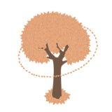 målad tree Arkivfoton