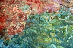 Målad vägg för Casa Mila Arkivbild