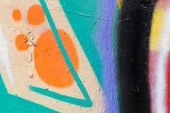 Målad vägg för Closeup abstrakt begrepp av staden Arkivfoto