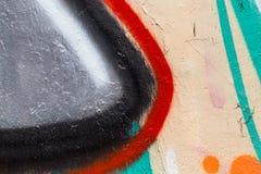 Målad vägg för Closeup abstrakt begrepp av staden Royaltyfri Foto