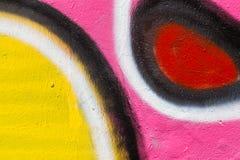 Målad vägg för Closeup abstrakt begrepp av staden Royaltyfria Bilder