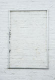 målad vägg för tegelsten ram arkivfoton