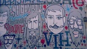 Målad vägg i Bryssel Royaltyfria Foton