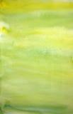 målad vattenfärg för konstbakgrundshand citron Arkivbilder