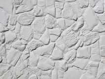 Målad vit vaggar väggen royaltyfria foton