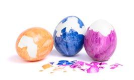 Målade ägg, ringt easter ägg fotografering för bildbyråer