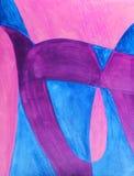 målade abstrakt roliga bokstäver Royaltyfri Illustrationer
