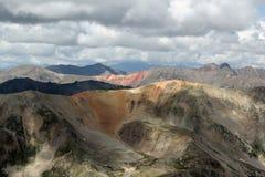 Målade berg fotografering för bildbyråer