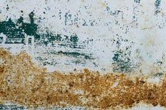 Målade blått belägger med metall med rosttextur Arkivbild