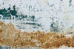 Målade blått belägger med metall med rosttextur Arkivfoton