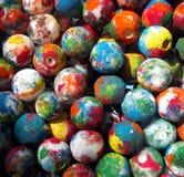 målade bollar arkivfoton