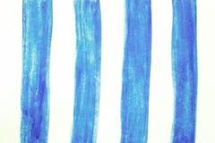 Målade borsteslaglängder för vattenfärg hand, linje, baner på vit b Fotografering för Bildbyråer