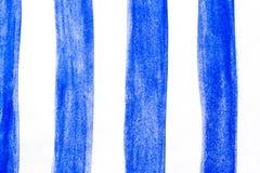 Målade borsteslaglängder för vattenfärg hand, linje, baner På vitbakgrund Fotografering för Bildbyråer