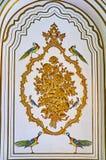 Målade dekorer av det Qavam huset, Shiraz, Iran Arkivfoton