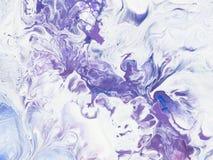 Målade den idérika handen för abstrakt konst bakgrund av akrylpaintinen Royaltyfri Bild