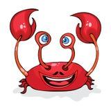 Målade den roliga krabban för tecknade filmen, cancer, teckenet som isolerades på vit bakgrund, vektorteckningen stock illustrationer