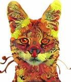 målade djur Arkivfoto