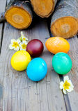 målade easter ägg Arkivfoton