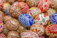 målade easter ägg Arkivfoto