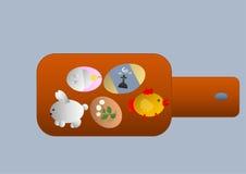 målade easter ägg stock illustrationer
