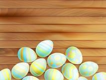 målade easter ägg 10 eps Arkivbild