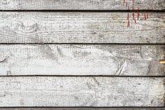 Målade gamla wood plankor för tappning extured ljus med sprickor, skrapor och sjaskig målarfärg för den naturliga designen, model Royaltyfria Foton