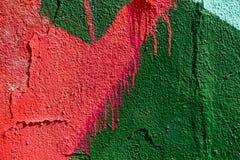 Målade grafitti för Closeup abstrakt begrepp Royaltyfri Fotografi