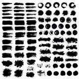 Målade Grungy borsteslaglängder för bakgrunder Royaltyfria Bilder
