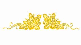 Målade guld- blommor Royaltyfri Fotografi