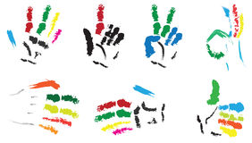 målade händer Royaltyfria Bilder